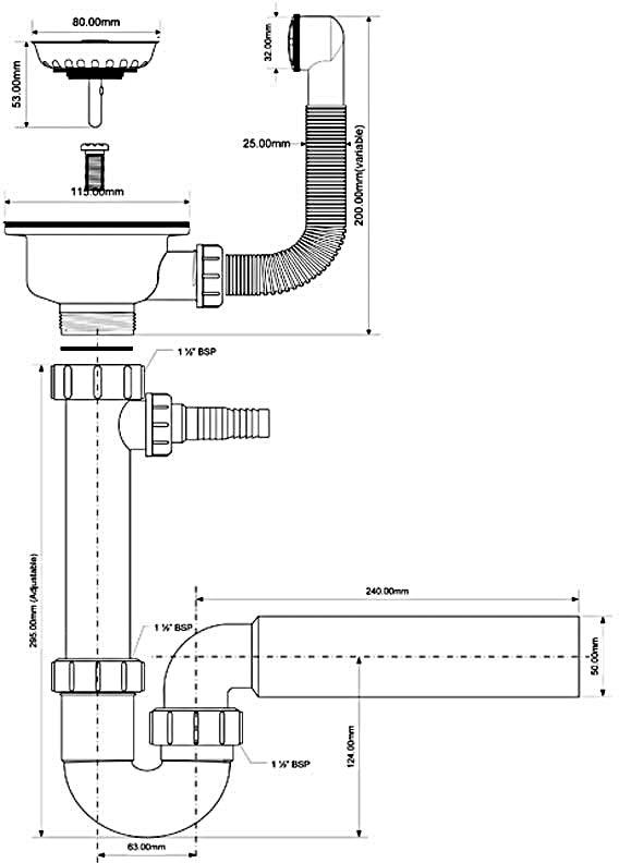 Как собрать сифон? особенности правильной сборки полуавтоматического сифона для раковины на кухне и в ванной. схема сбора сантехнического и других сифонов