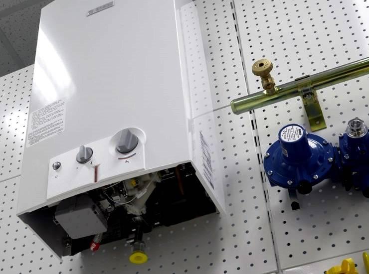 Газовая колонка бош полуавтомат как включить
