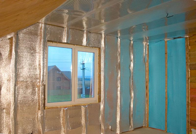 Утепление дома пенофолом изнутри. стены, потолок, пол, балкон