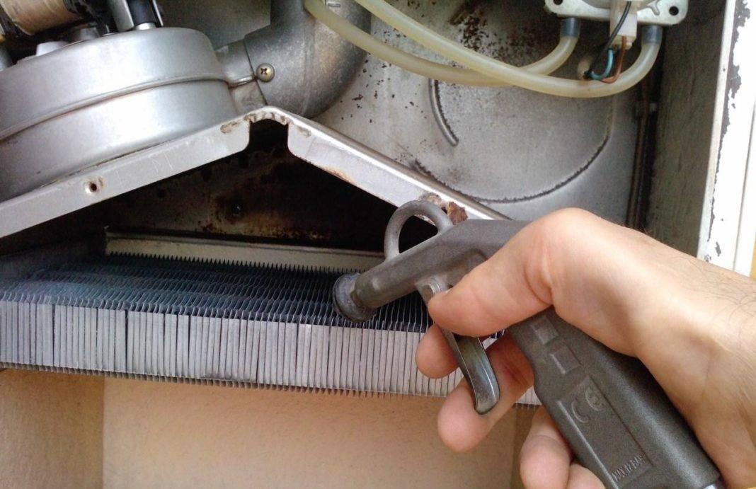 Как почистить газовую колонку своими руками, промывка теплообменника