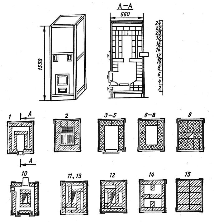 Инструкция по самостоятельной сборке печи-голландки из кирпича