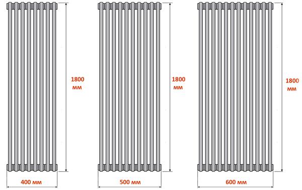 Вертикальные радиаторы отопления для квартиры и батареи трубчатые высокие настенные