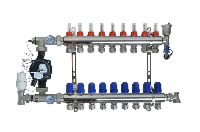 Проектирование и монтаж коллекторной отопительной системы