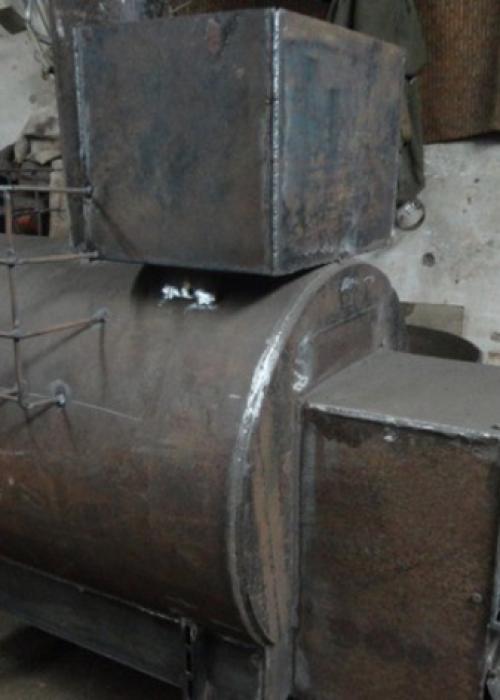 Металлическая печь для бани своими руками