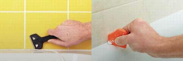 Как очистить старый силиконовый герметик с душевой кабины