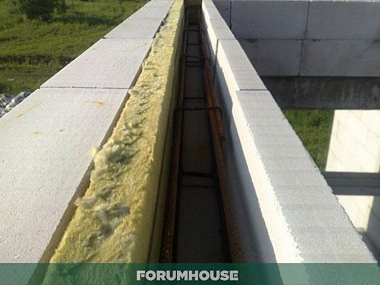 От профи: армопояс под крышу дома из газобетона или пеноблока