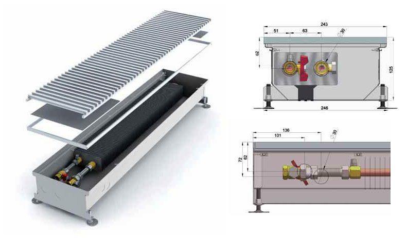 Водяные конвекторы отопления: преимущества, конструкция, монтаж