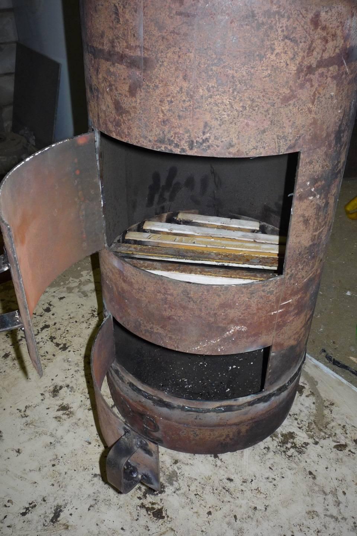 Буржуйка из газового баллона на дровах своими руками