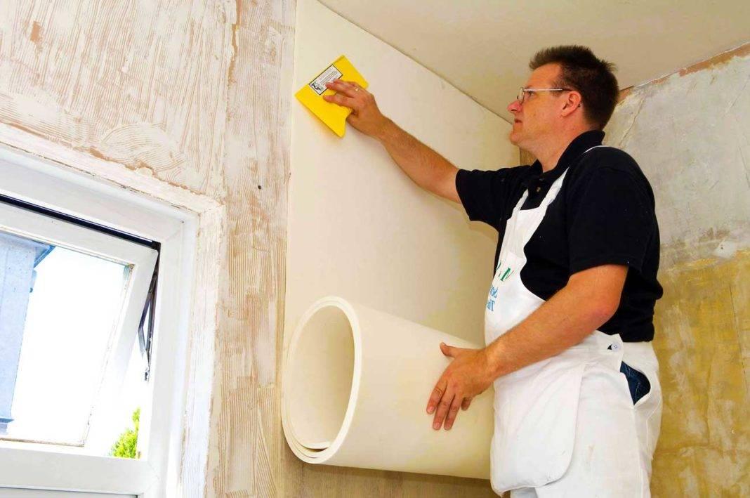Подложка под обои: рулонный полифом и пенолон, утеплитель для стен внутри квартиры, отзывы мастеров