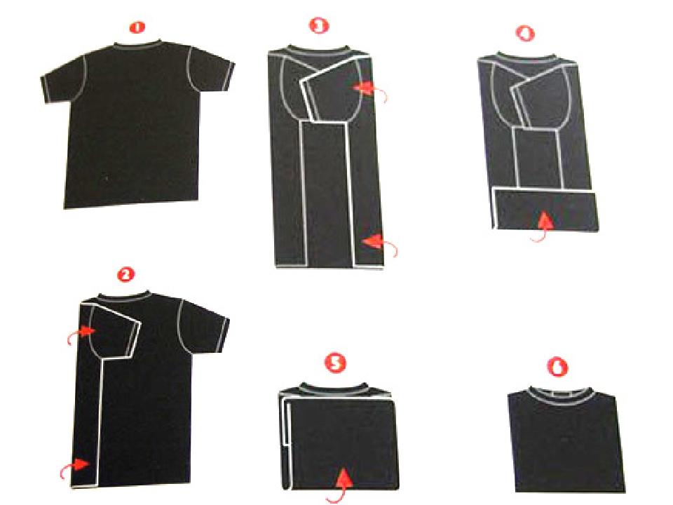 Как сложить футболки разными способами в зависимости от модели