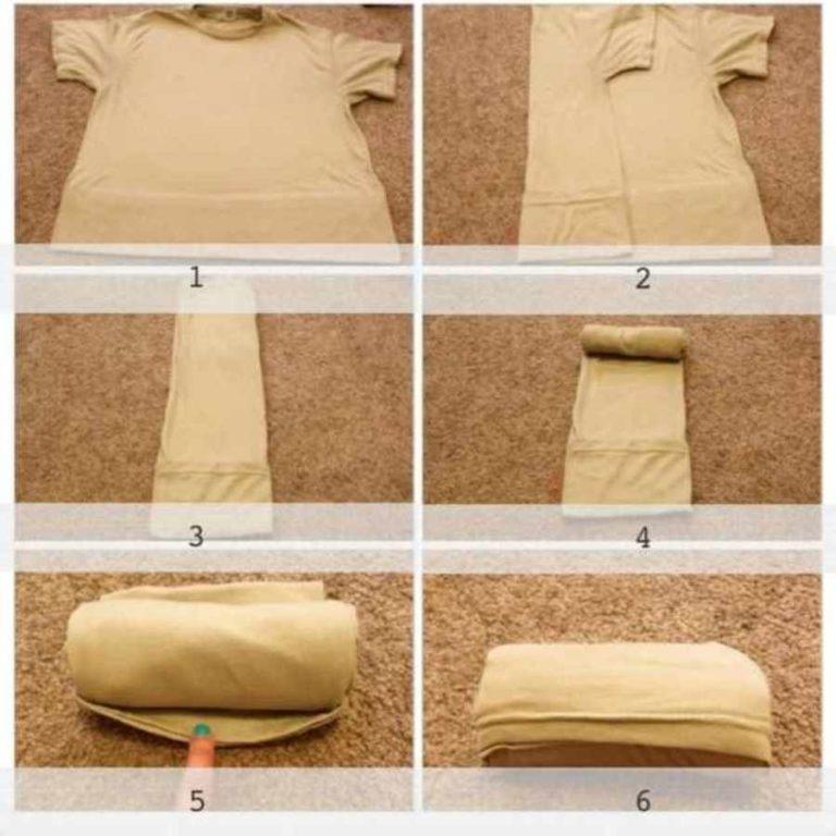 3 способа сложить вещи в шкаф или чемодан, чтобы они не помялись