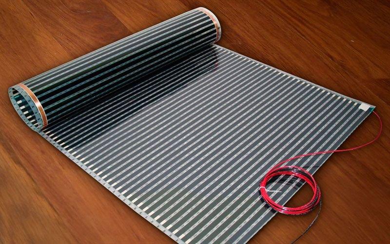 Как используется инфракрасная пленка для отопления теплым полом