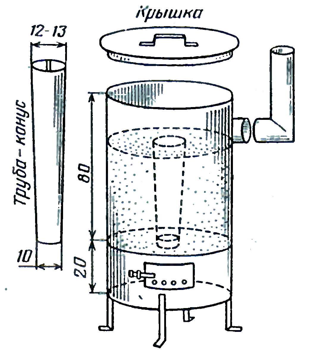 Буржуйка из трубы своими руками: пошаговая инструкция, чертеж, фото