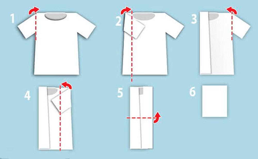 Как сложить футболку, советы, обзор распространенных методов