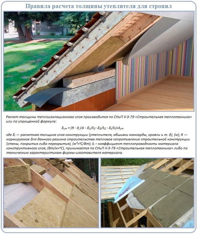 Свойства и размеры утеплителей для крыши