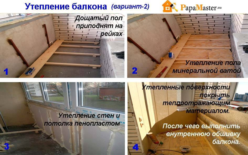 Как утеплить балкон своими руками: пошаговые фото и инструкции
