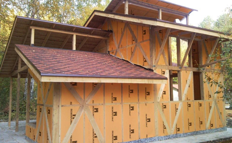 Утепление каркасного дома пенопластом, стен, полов и потолка своими руками