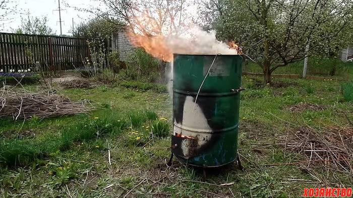 Кирпичная печь для сжигания мусора