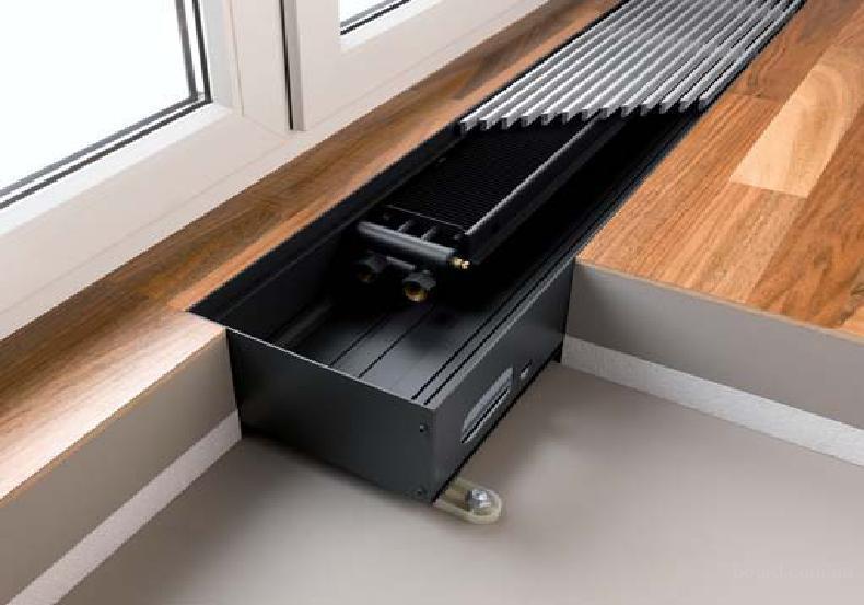 Внутрипольные конвекторы водяного отопления - особенности, плюсы и минусы