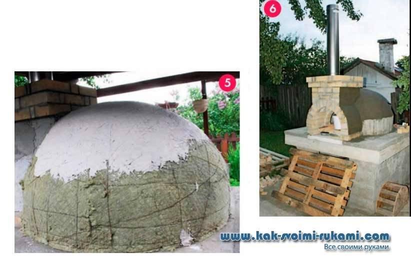 Помпейская печь своими руками: чертежи, размеры и пошаговая инструкция + фото