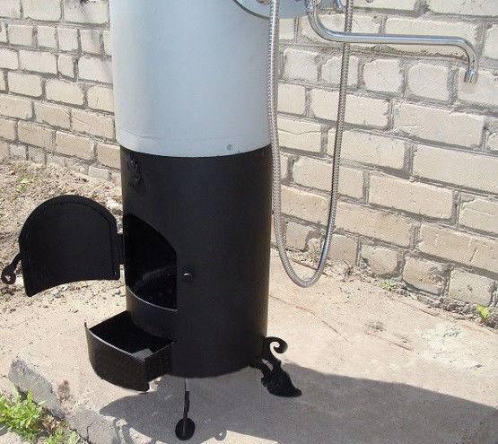 Электрические и дровяные водонагреватели для душа титан: характеристики