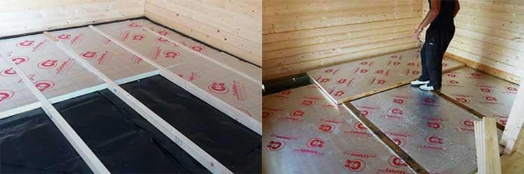 Утепление бетонных полов экструзионным пенополистиролом
