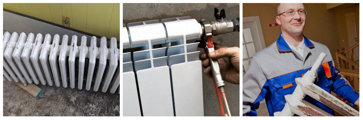 Ремонт чугунных радиаторов отопления: чистка своими руками, как промыть батарею, почистить не снимая, чем мыть