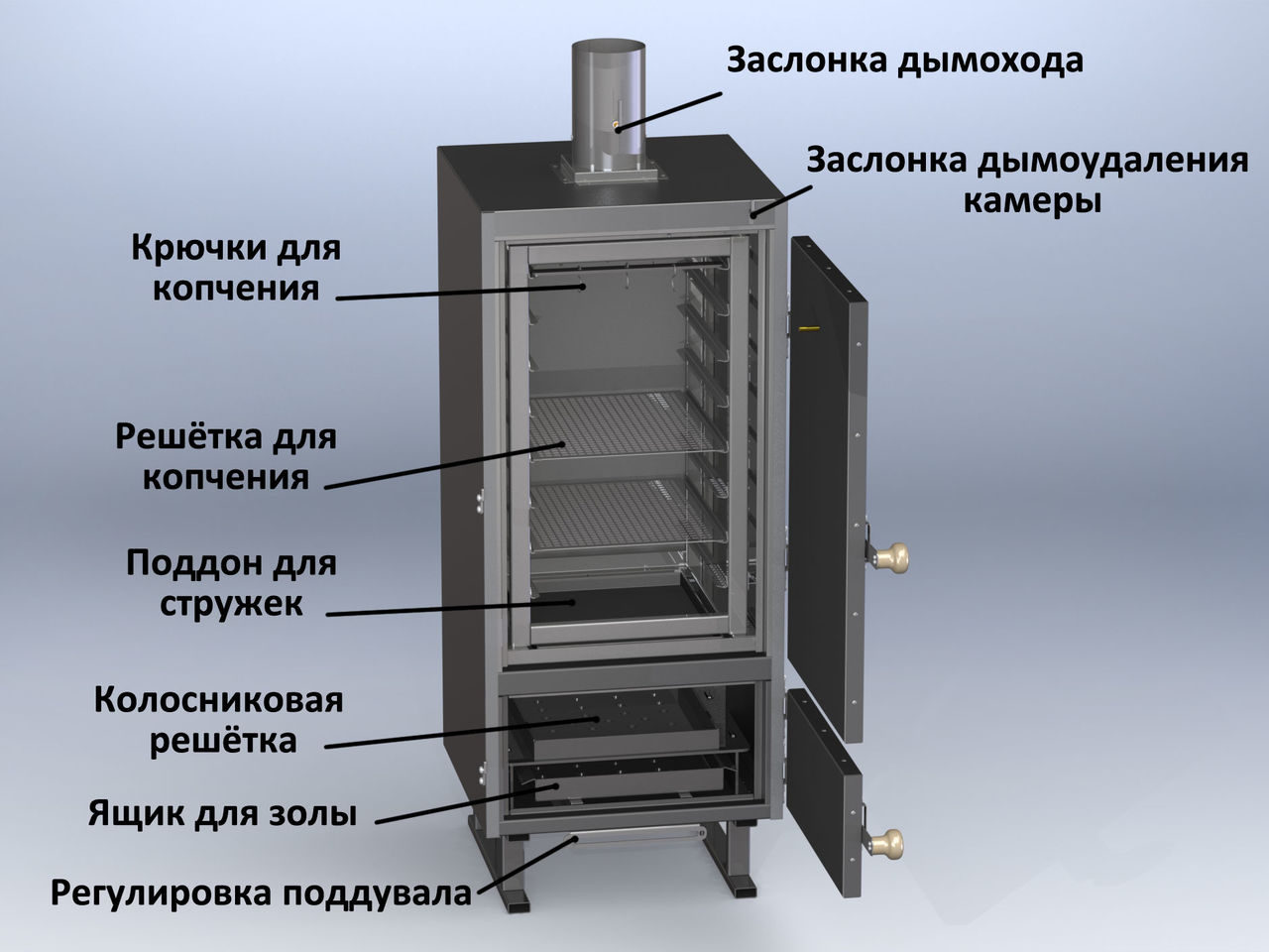 Коптильня своими руками (89 фото): как сделать в домашних условиях - пошаговая инструкция, чертеж самодельного приспособления для горячего и холодного копчения