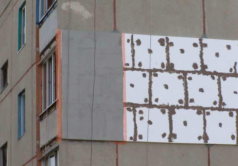 Утепление фасада пенополистиролом: технология работ