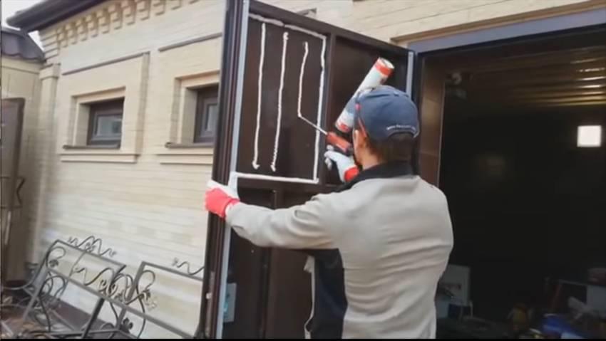 Как утеплить входную дверь в частном доме, чтобы не промерзала как утеплить входную дверь в частном доме, чтобы не промерзала