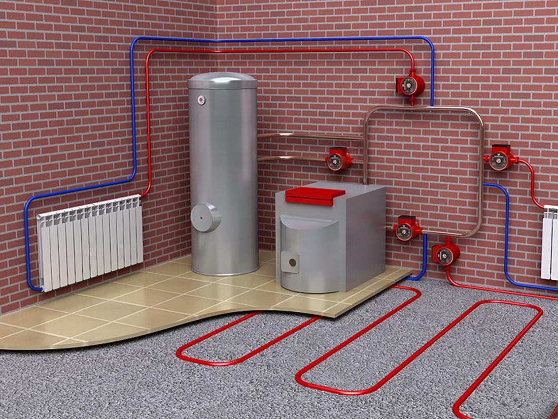 Виды отопления частного дома без газа и электричества