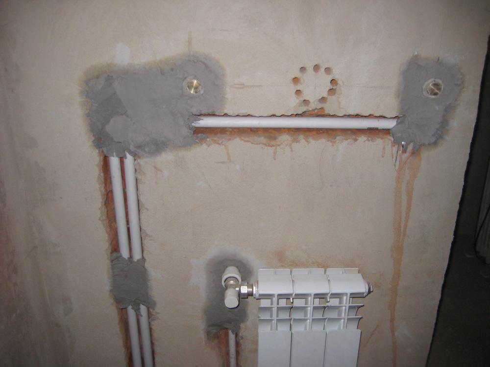 Можно ли прятать полипропиленовые трубы в стену