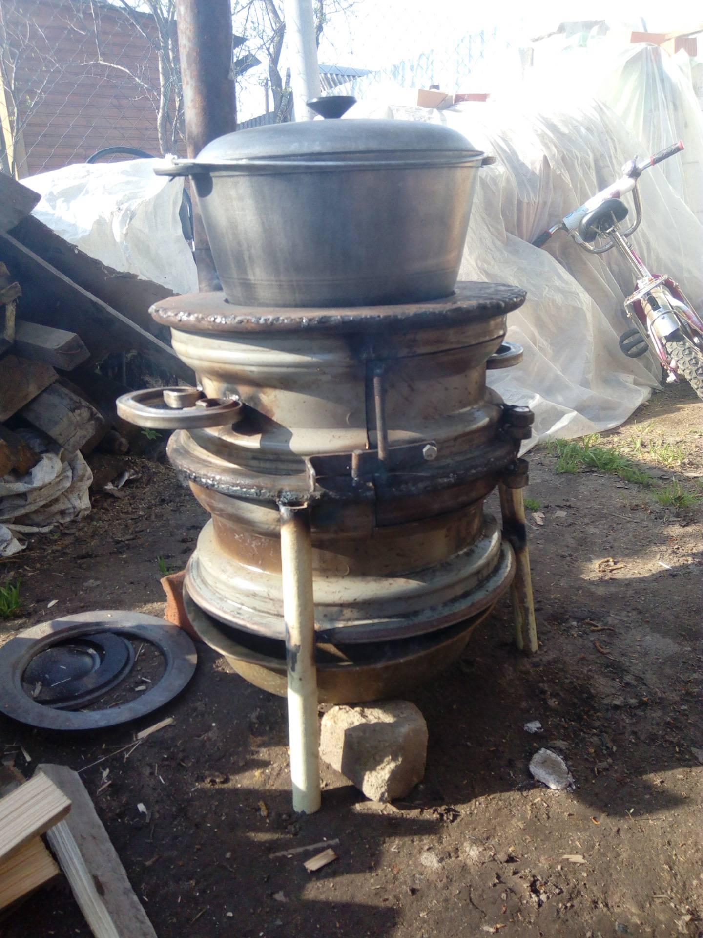 Печка из камазовских дисков своими руками - moy-instrument.ru - обзор инструмента и техники