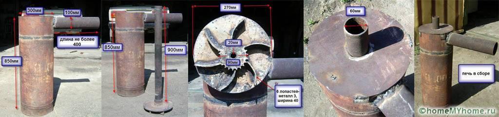 Печь длительного горения бубафоня: конструкция, чертеж, принцип действия