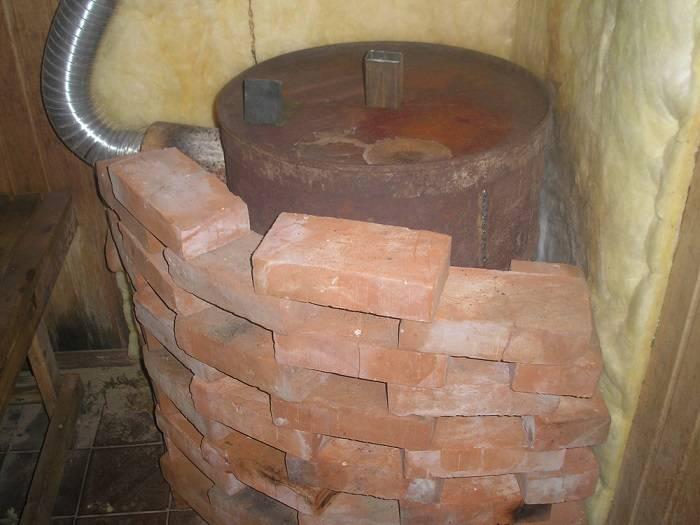 Как обложить дровяную печку-буржуйку кладкой из кирпича