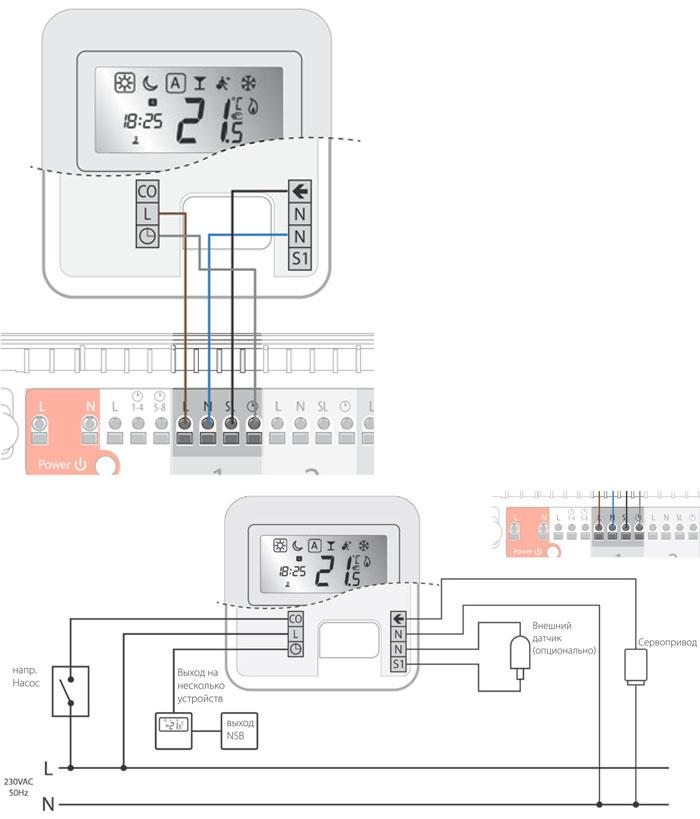 Подключение конвектора к терморегулятору – minecrew.ru