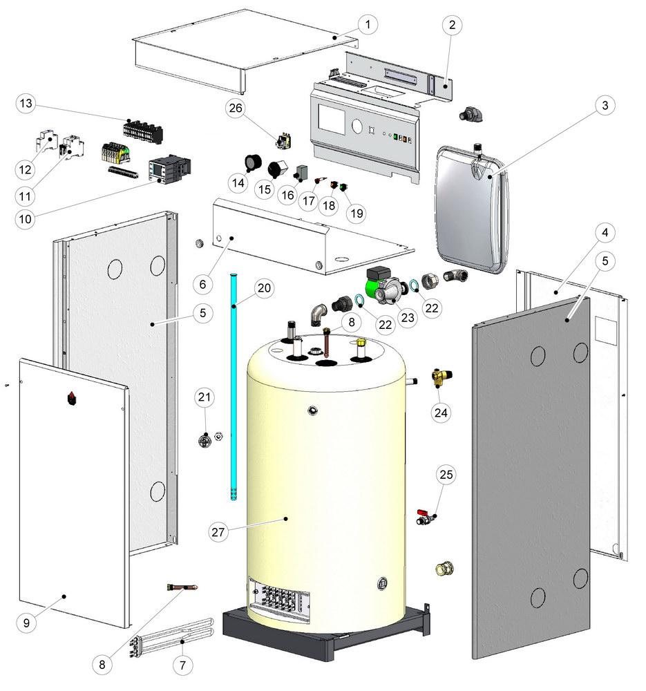 Электрокотел двухконтурный для отопления дома 220в