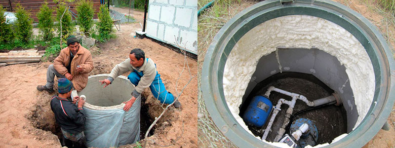 Утепление колодца – технология теплоизоляции водопроводного колодца на зиму