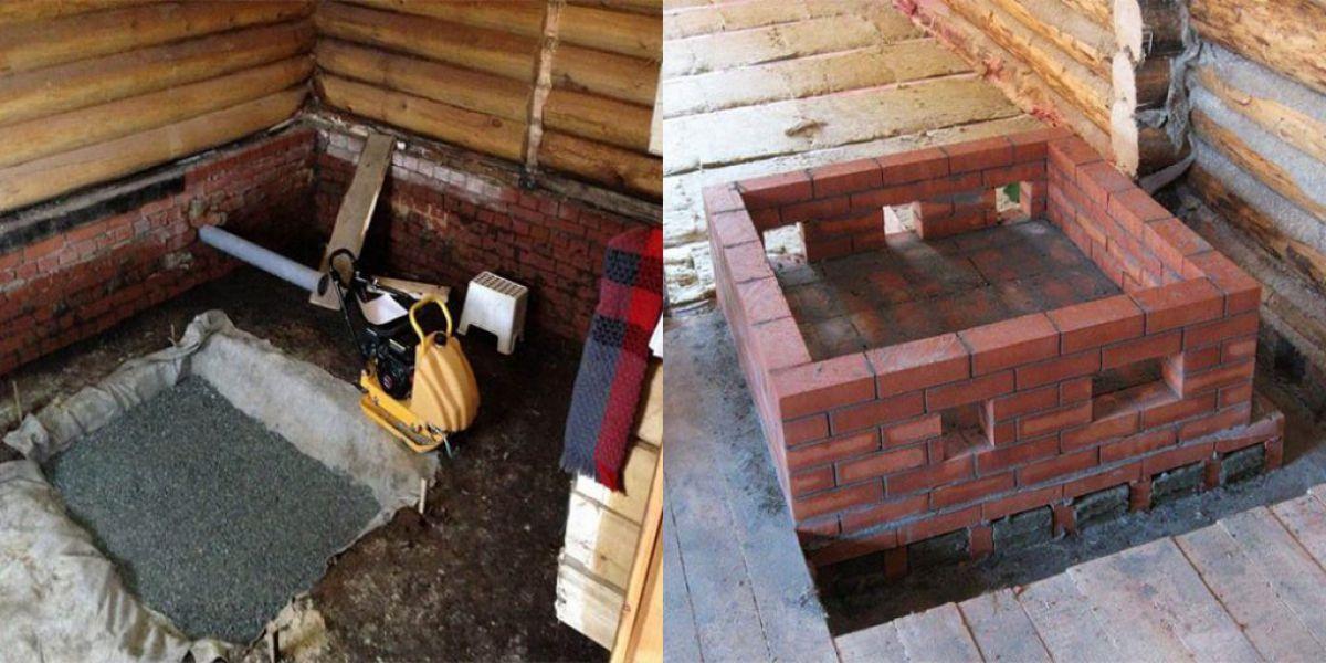 Как сделать фундамент под камин в доме: устройство, материалы, размеры, основание - строительство каминов своими руками