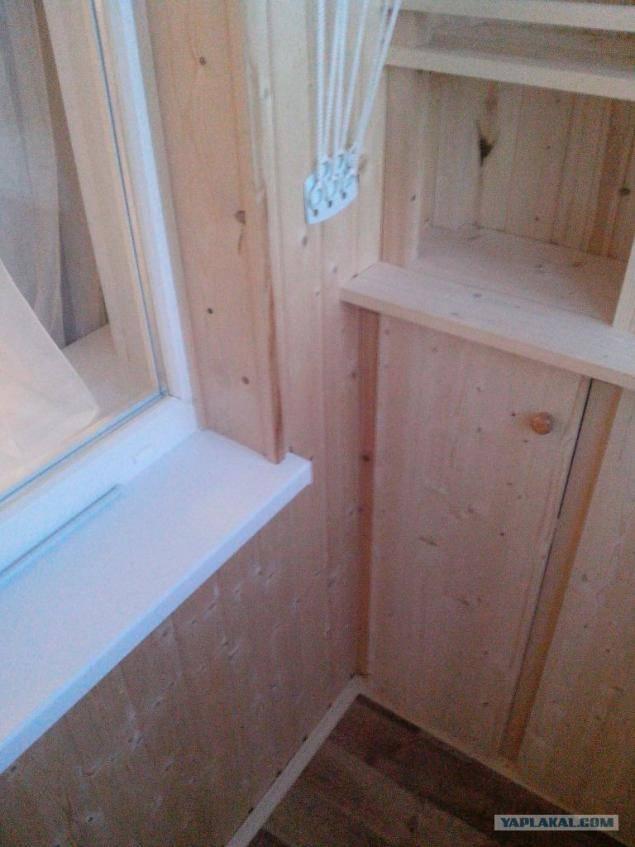 Отделка балкона вагонкой – как правильно обшить потолок
