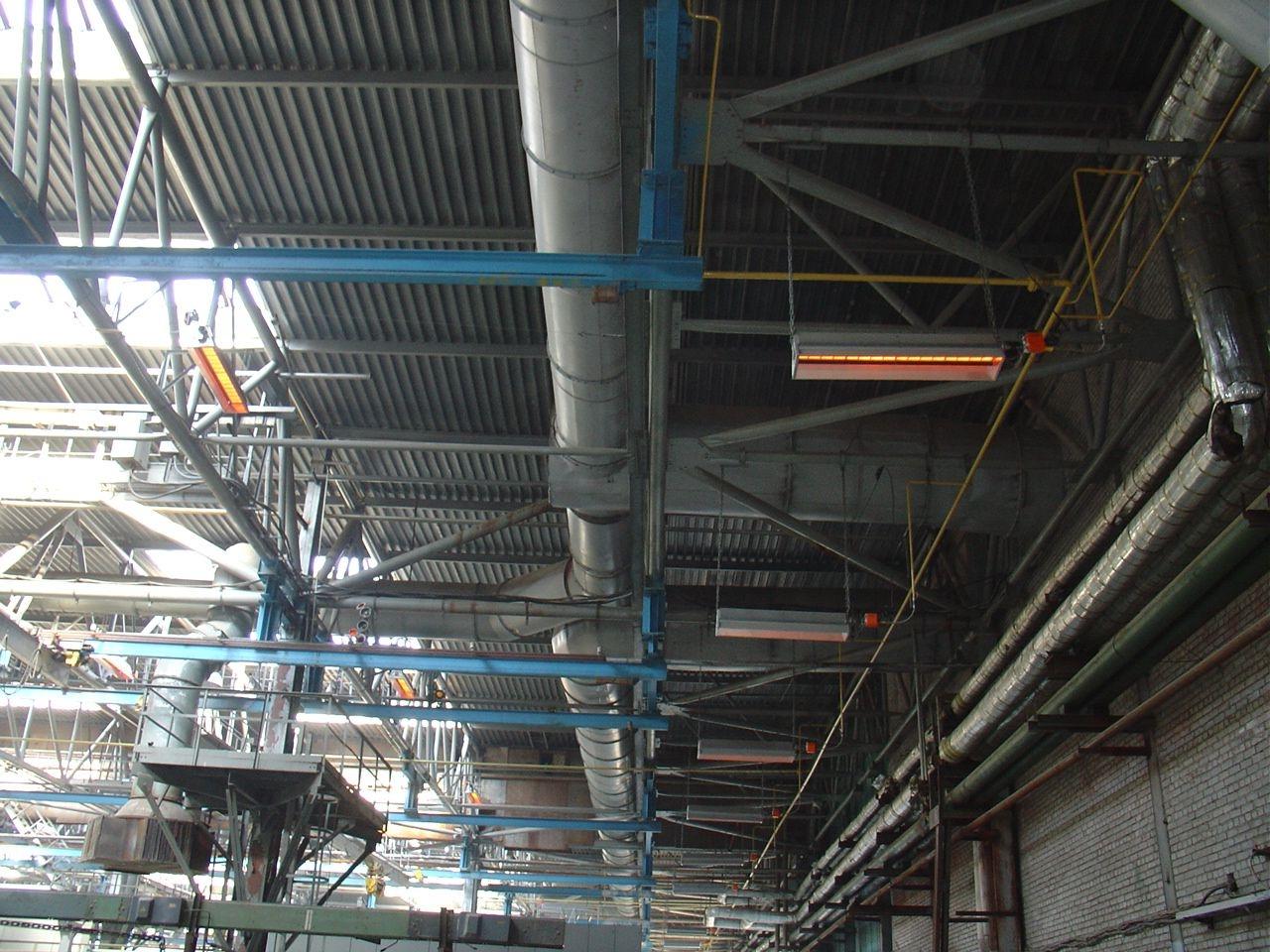 Газо-лучистое отопление. промышленные инфракрасные обогреватели