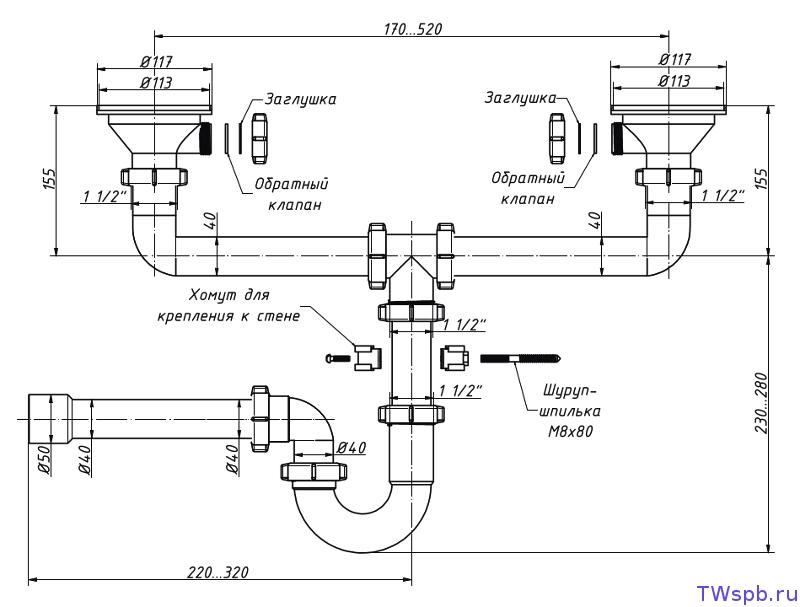 Как собрать сифон для кухонной мойки: правильная установка изделия