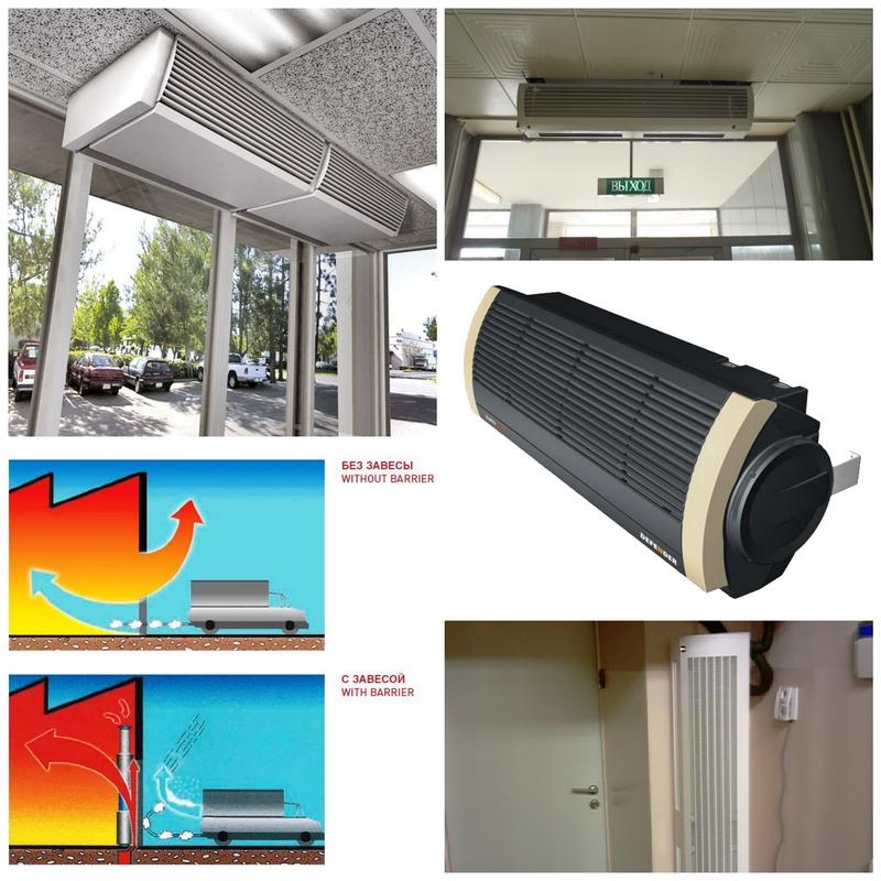 Как выбрать воздушную тепловую завесу на дверь
