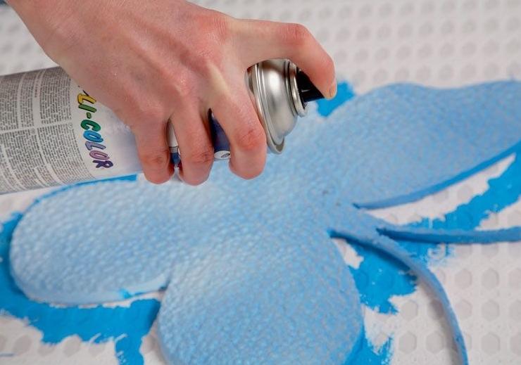 Чем покрасить пенопласт - можно ли и какой краской, рекомендации