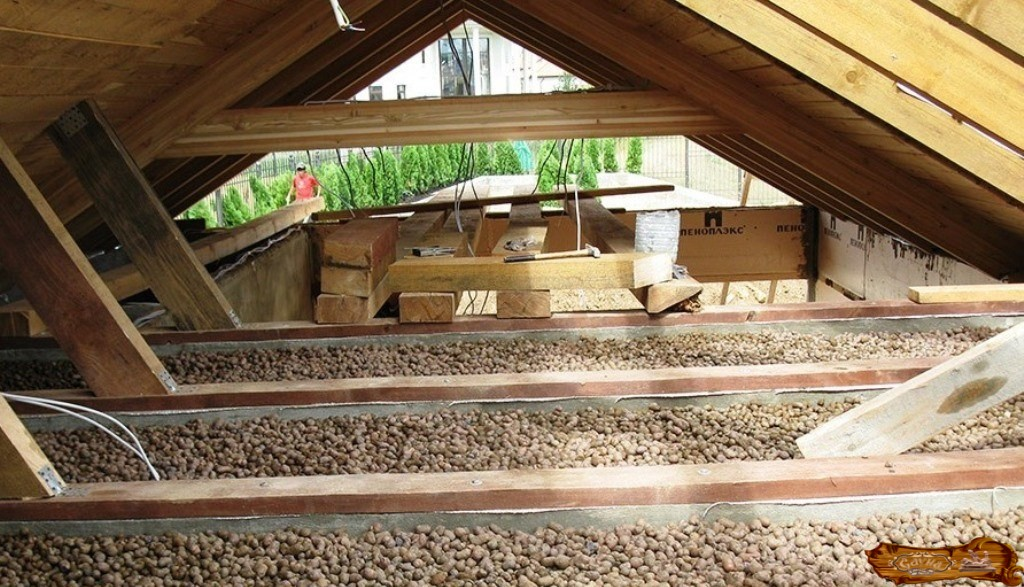Как утеплить потолок в бане с холодной крышей