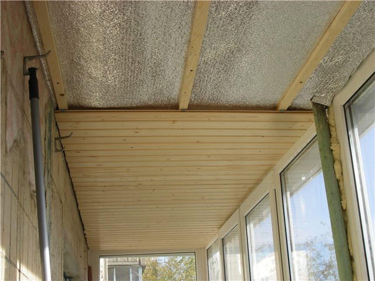 Утепление потолка балкона: гидроизоляция изнутри своими руками на лоджии и что делать при конденсате