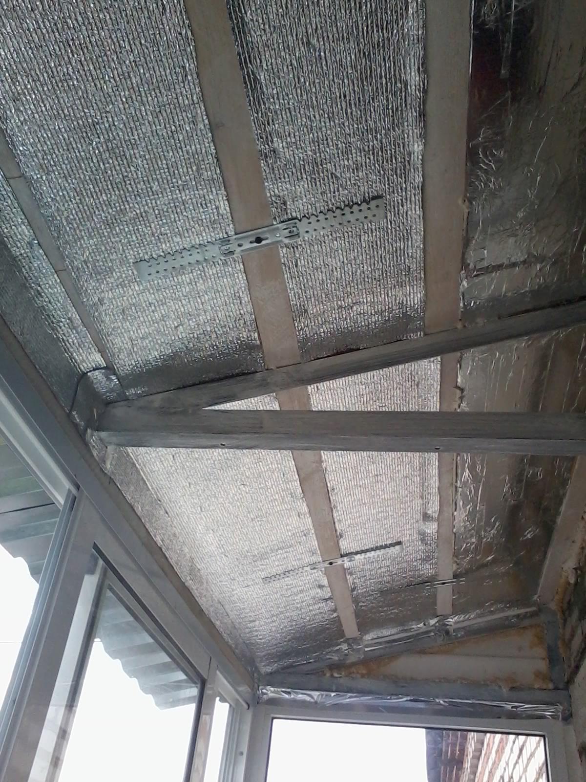 Утепление потолка на балконе своими силами