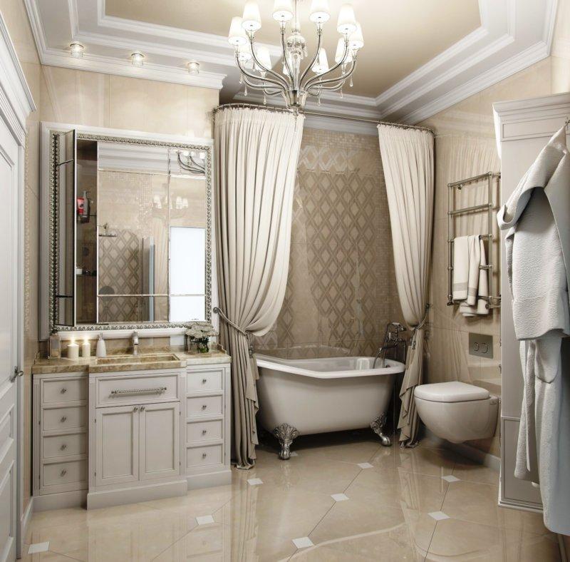Дизайн ванны в классическом стиле:советы дизайнеров с примерами на фото