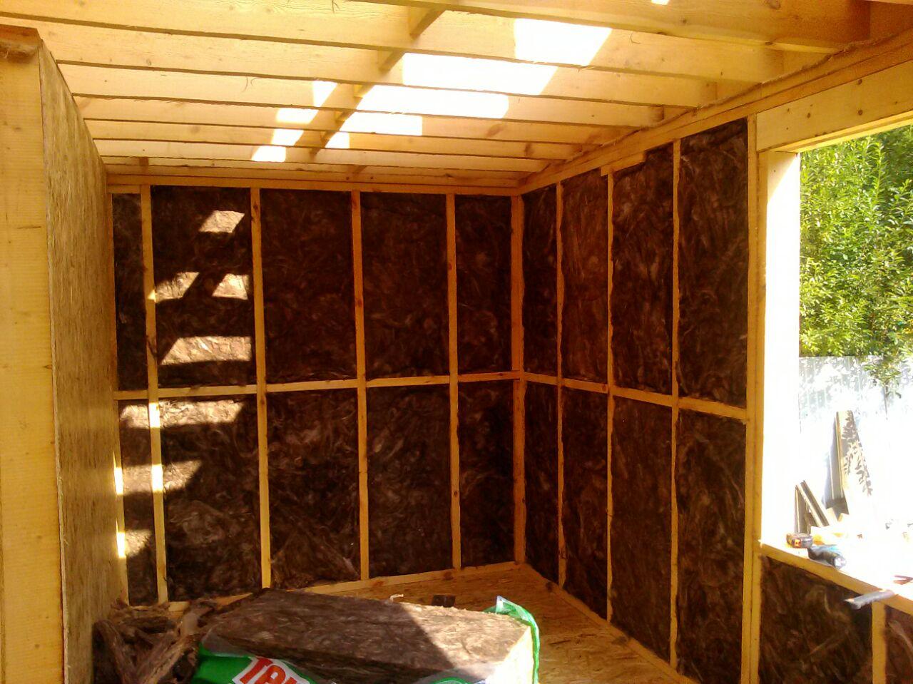 Утепление стен и пола каркасного дома минеральной ватой