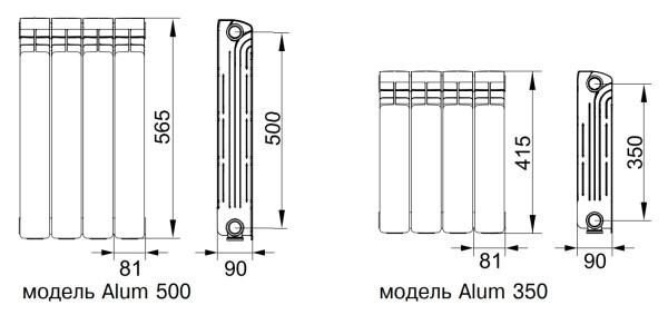 Виды и характеристики алюминиевых радиаторов отопления